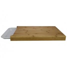 Snijplank 38x26 cm Bamboe wit