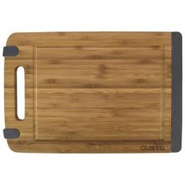 Snijplank Bamboe/siliconen 32x21,5 cm