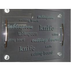 Glazen snijplank glas
